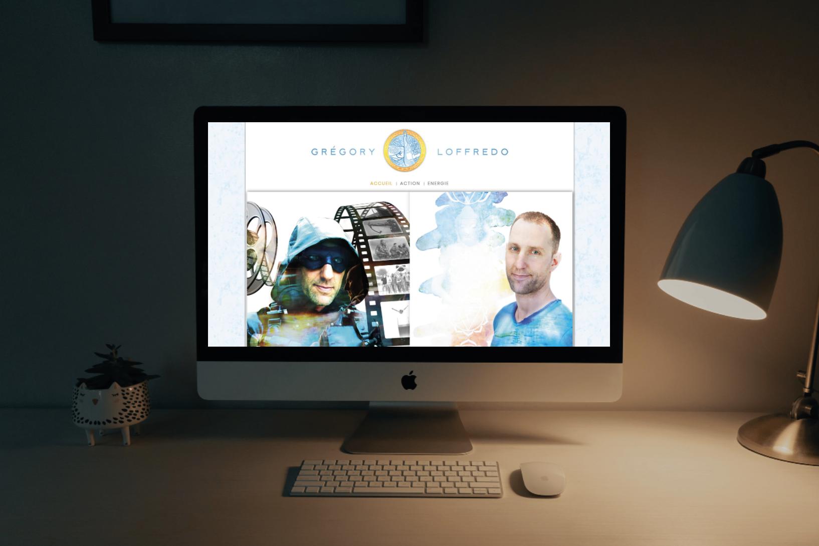 Inspir Communication création identité de marque et site internet de Gregory Loffredo