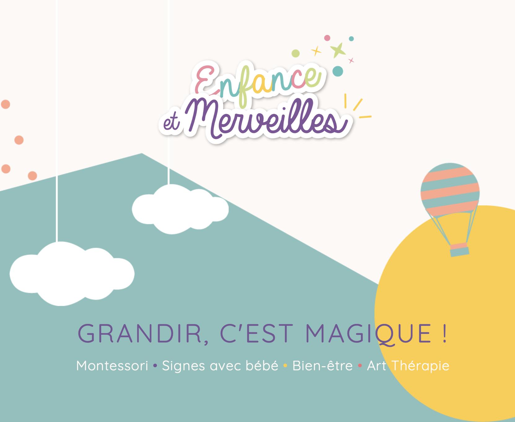 Création de site internet Inspir Communication pour Enfance et Merveilles Montessori Vendée France